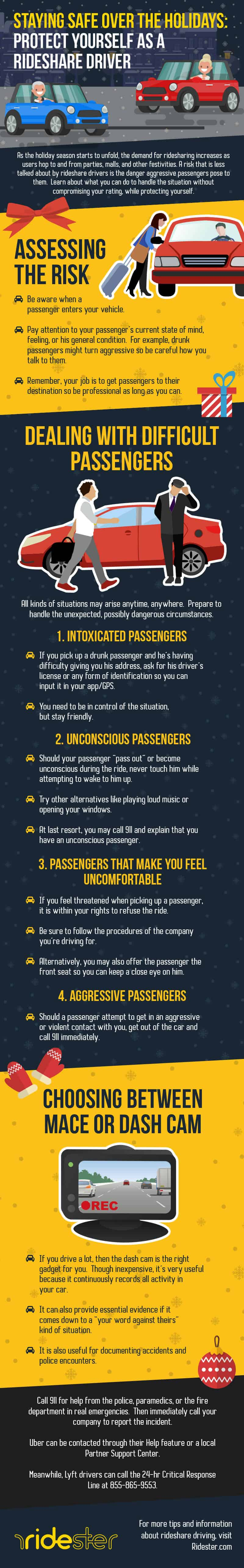 Staying Safe Over the Holidays Protect Yourself as a Rideshare Driver