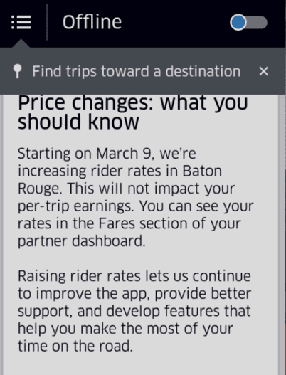 Uber Is Raising Prices But Drivers Won T Benefit