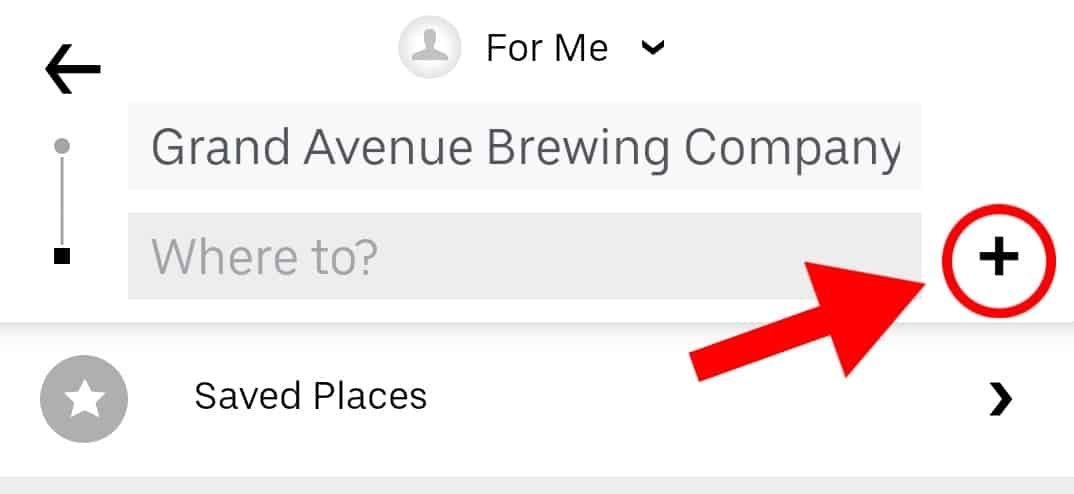 Does Uber do round trips? Plus sign on an Uber ride interface